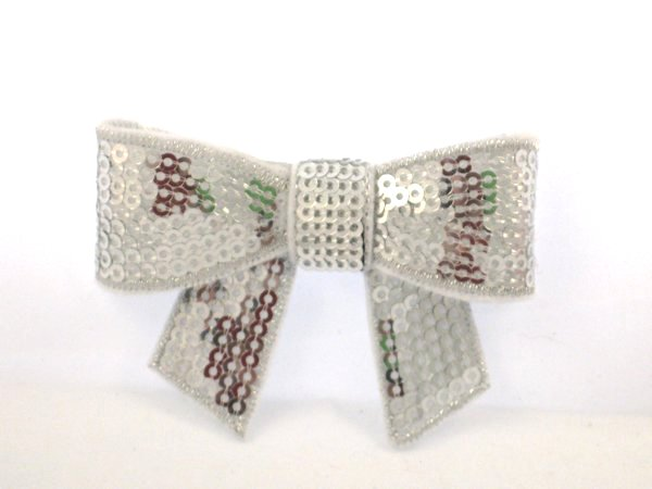 Sequin Bow Hair Clips