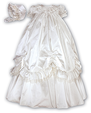 Girl's Silk Christening Gown