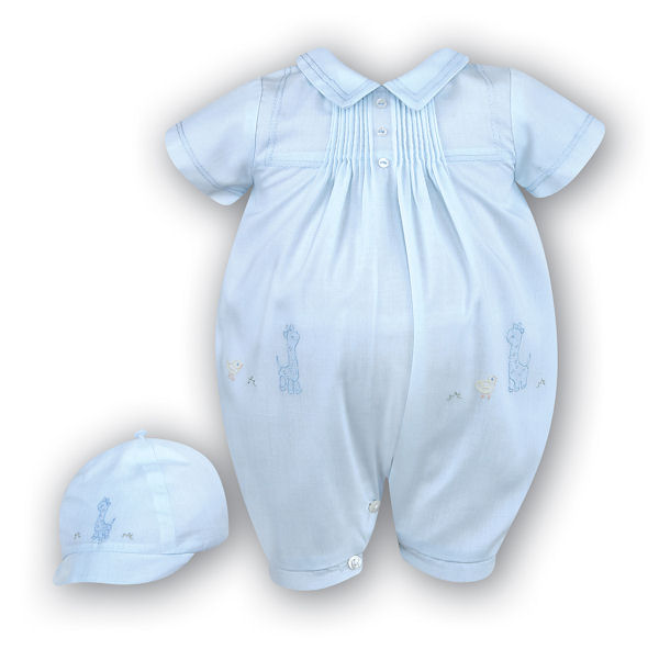 Blue Romper & Cap Set