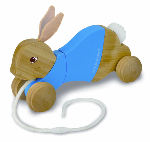 Peter Rabbit Wooden Pull Toy