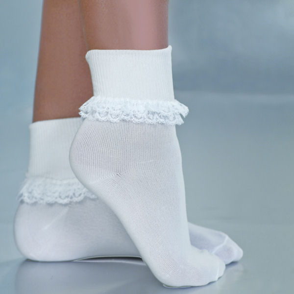 White Lace Sock