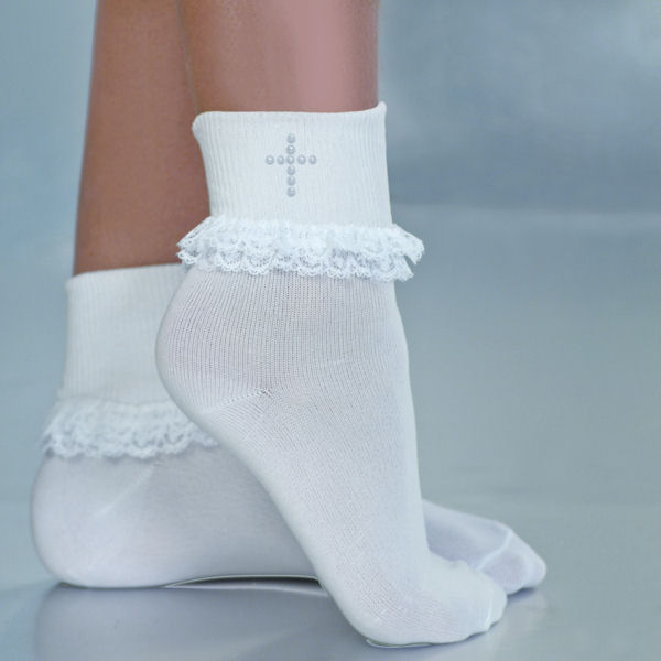 Pearl Cross Sock