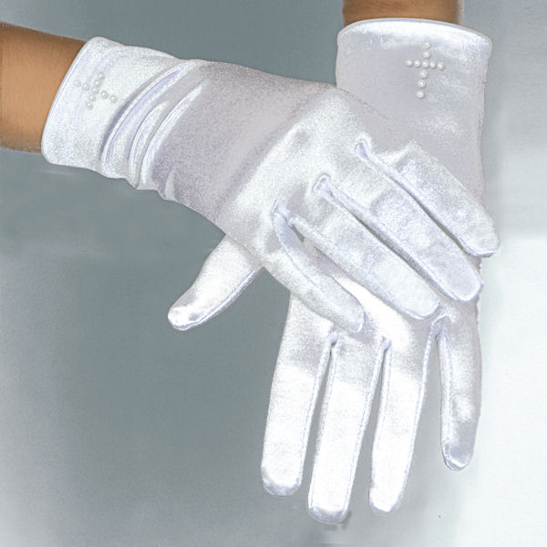 Pearl Cross Gloves