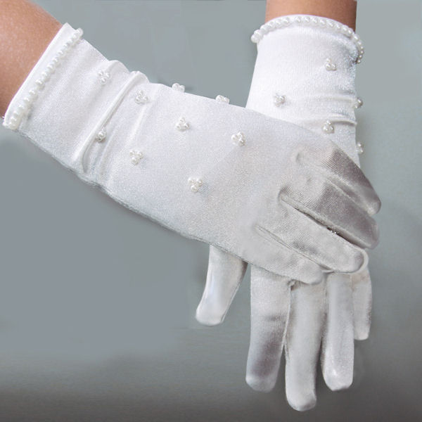 Pearl Satin Gloves
