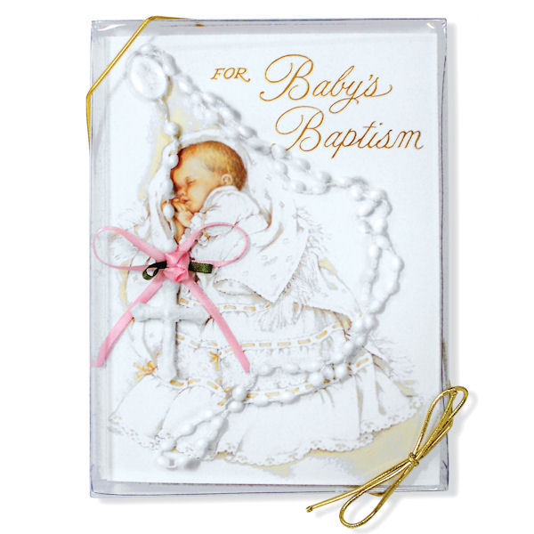Girl's Baptism Card