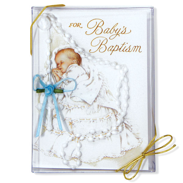 Boy's Baptism Card