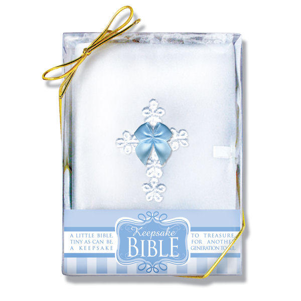 Boy's Blue Bow Bible