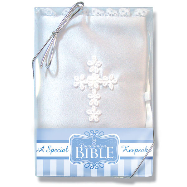 Venise Lace Cross Communion Bible