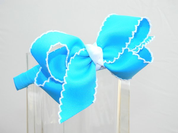 Island Blue & White Moonstitch Headband