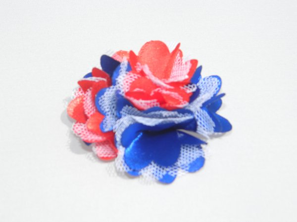 "2"" Red, White & Blue Satin Rosette"