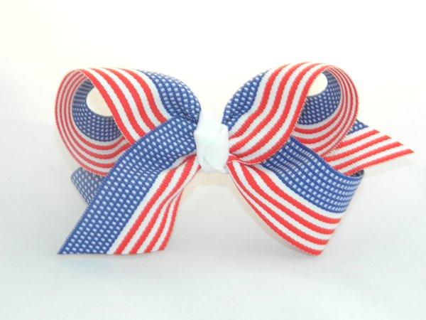 American Flag Large Hair Bow