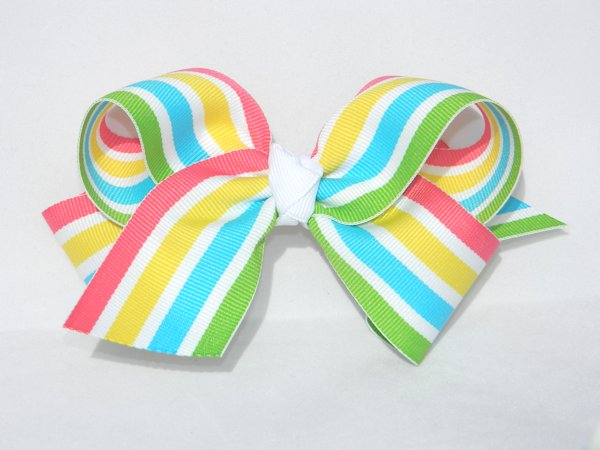 Tropical Smoothie Stripe Large Hair Bow
