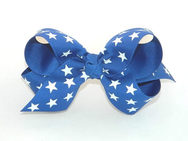 Royal Blue Star Large Hair Bow