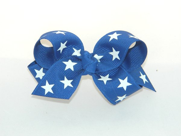Royal Blue Star Medium Hair Bow