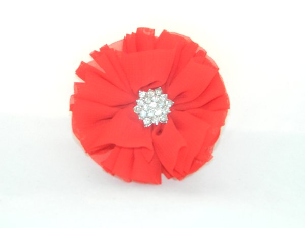 Red Starburst Flower Hair Clip