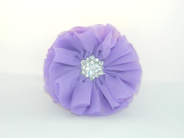 Bright Purple Starburst Flower Hair Clip