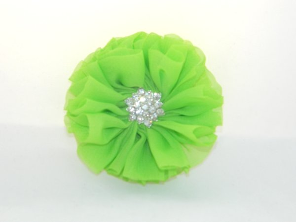 Lime Starburst Flower Hair Clip
