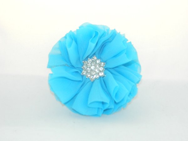 Bright Blue Starburst Flower Hair Clip