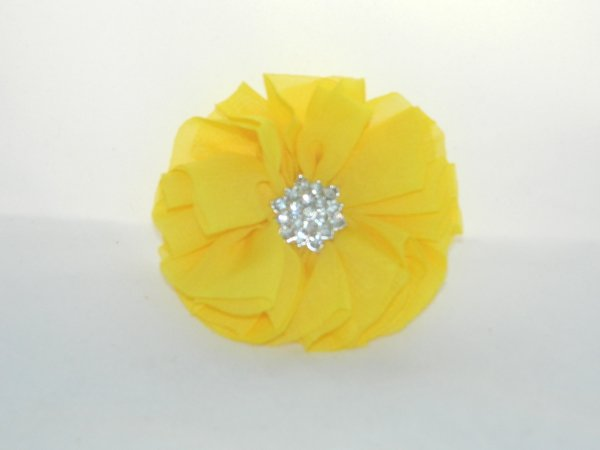 Yellow Starburst Flower Hair Clip