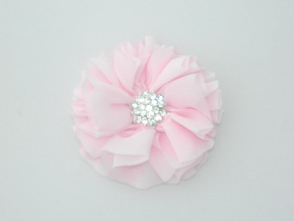 Light Pink Starburst Flower Hair Clip