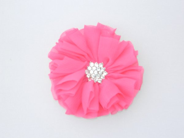 Bright Pink Starburst Flower Hair Clip