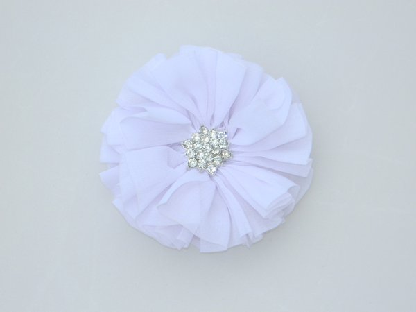 White Starburst Flower Hair Clip