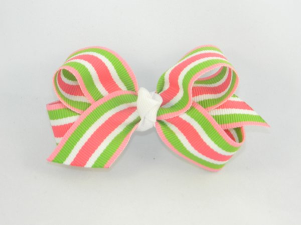 Sherbert Stripe Medium Hair Bow