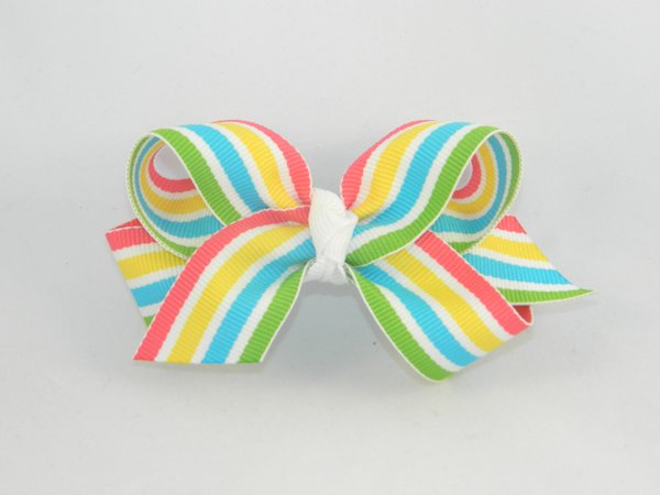Tropical Smoothie Stripe Medium Hair Bow