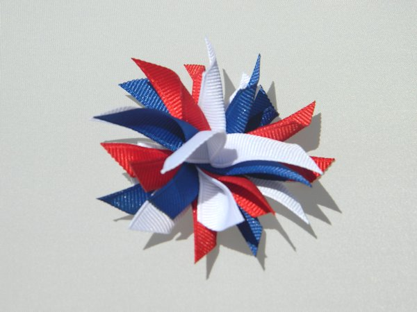 Red, White & Blue Small Splash Bow