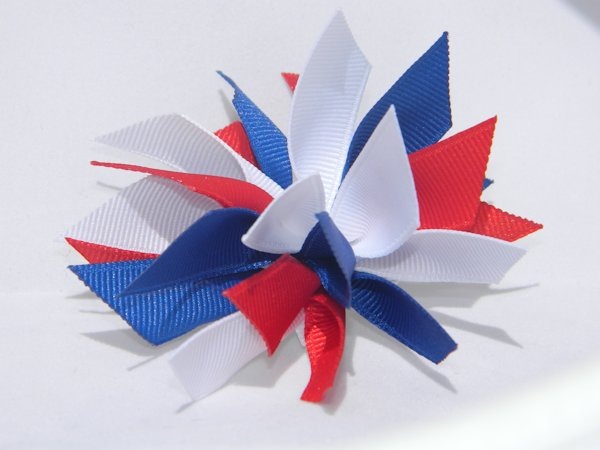 Red, White & Blue Medium Splash Bow