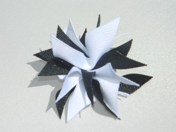 Light Navy & White Small Splash Bow