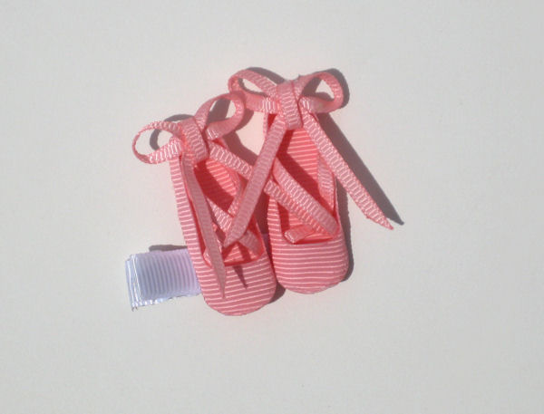 Pink Ballet Shoes Hair Clip