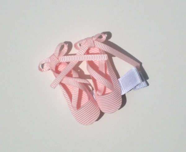 Light Pink Ballet Shoes Hair Clip