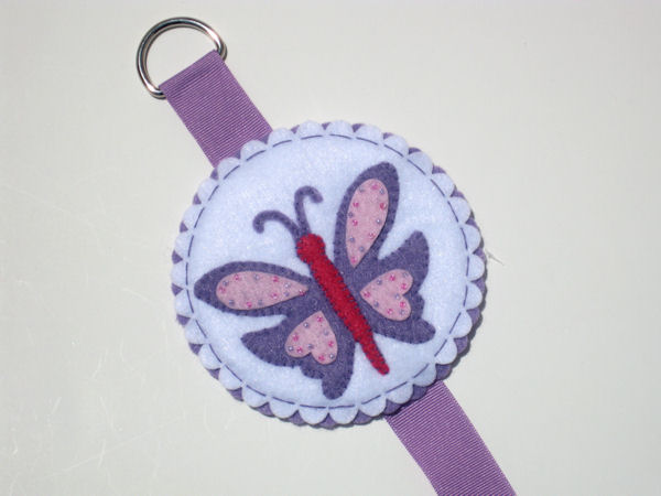 Butterfly Bow Holder - Lavender and Purple
