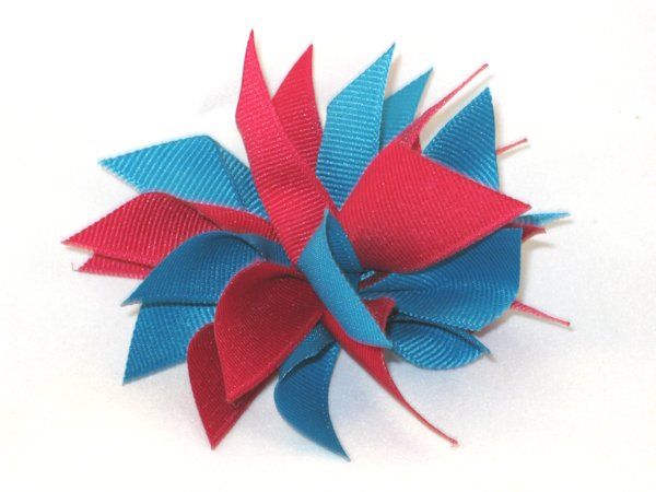 Raspberry & Sapphire Medium Splash Bow