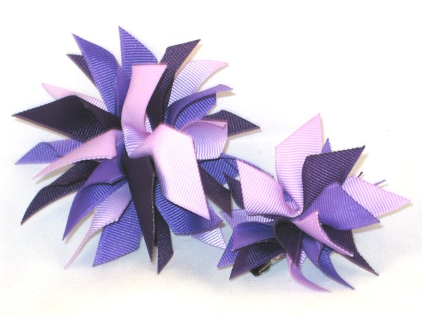 Multi Purple Medium Splash Bow