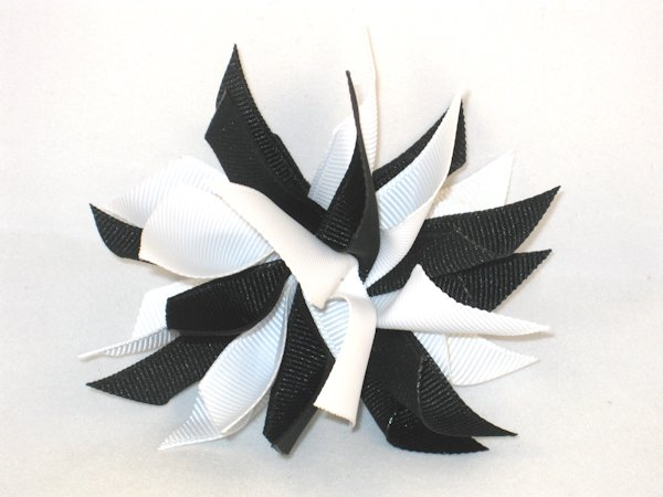 Black & White Medium Splash Bow