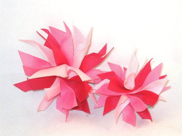Multi Pink Medium Splash Bow
