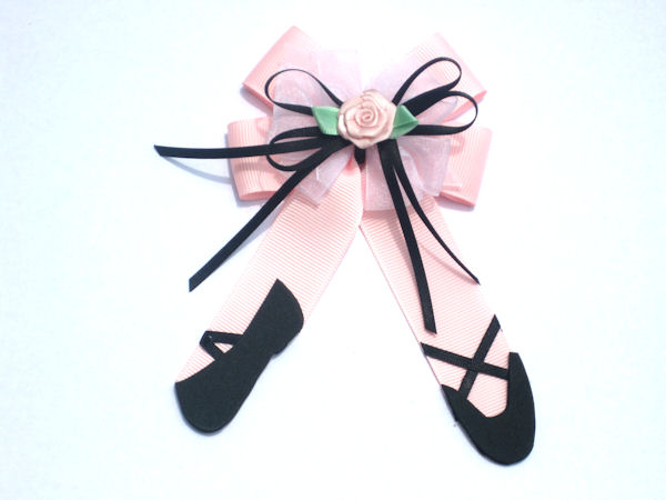 Pink and Black Ballet Slippers