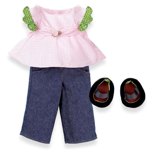 Rosy Cheeks Big Sister Shirt and Jeans Set
