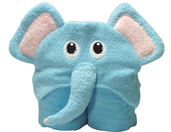 Blue Elephant Hooded Towel