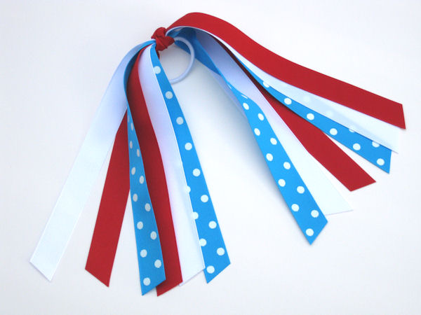 Red, White & Island Blue Polka Dot Pony-O