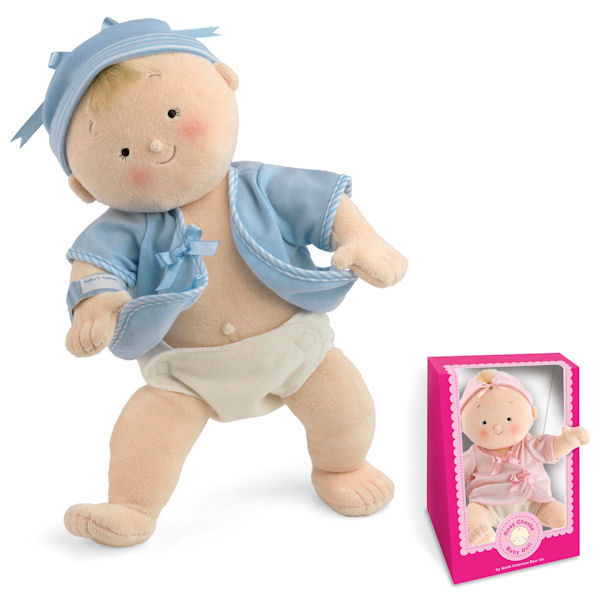 Rosy Cheeks Baby Blonde Boy Gift Set