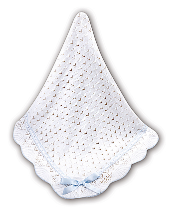 White & Blue Baby Shawl
