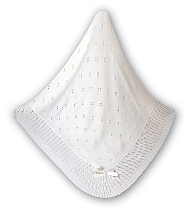 White Baby Shawl
