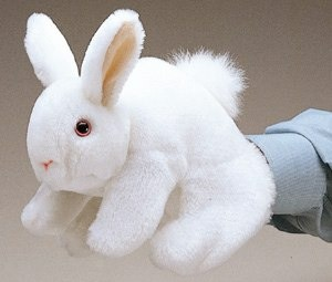 Bunny White Rabbit Puppet
