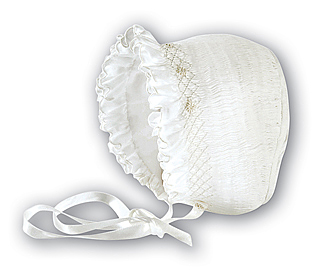 White Smocked Bonnet