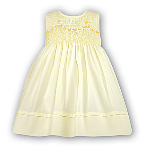 Lemon Yellow Smocked Dress